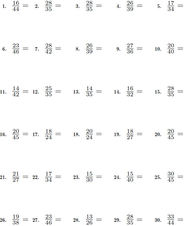 Equivalent Fractions Worksheets – Fraction Reduction Worksheet